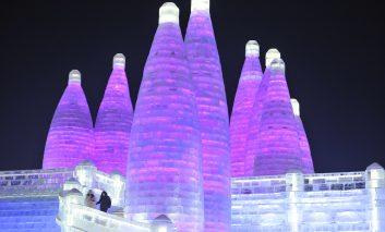هنر مجسمهسازی با برف در نمایشگاه بینالمللی هاربین