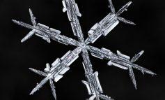 نمای نزدیک از ریزدانههای کوچولو و سپیدرنگ برف