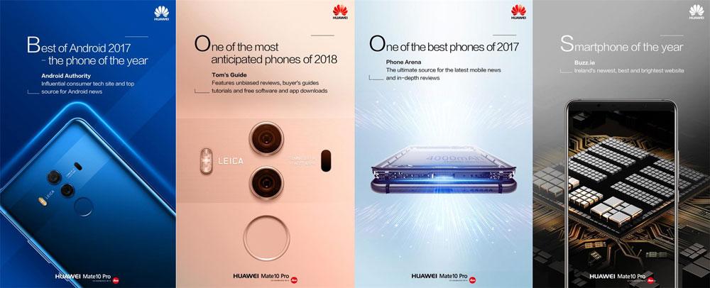 ۱۰ دلیل برای اینکه گوشیهای هوشمند سری HUAWEI Mate 10 برای کسبوکار شما بهترین هستند!