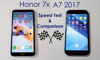 یک نبرد جانانه: مقایسه سرعت بین Honor 7X و سامسونگ گلکسی A7