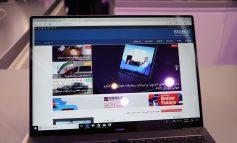 نیم نگاه فوتوفن به لپتاپ هوآوی MateBook X Pro در کنگره جهانی موبایل ۲۰۱۸