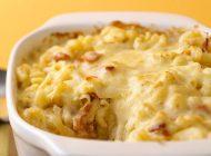 پنیر و ماکارونی با پیاز کاراملی