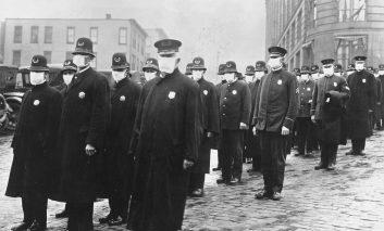 شیوع آنفولانزا در سال ۱۹۱۸؛ عکسهایی به قدمت یک قرن پیش!