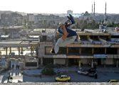 گزارش تصویری: پارکور در ویرانههای حلب