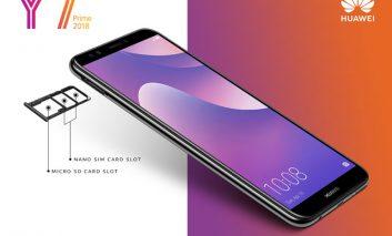 اسلات سه گانه در گوشی  HUAWEI Y7 Prime 2018 برای هر آنچه نیاز دارید