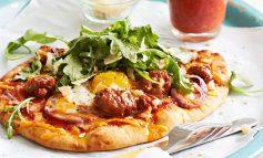 طرز تهیه پیتزا تخممرغ و سبزیجات
