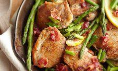 طرز تهیه مرغ، مارچوبه و ژامبون