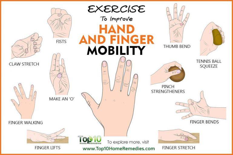 ۱۰ ورزش برای افزایش تحرک دست و انگشتان
