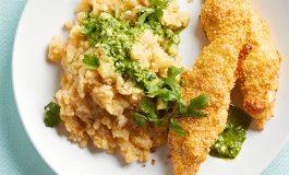 طرز تهیه مرغ سوخاری با پوره گلکلم
