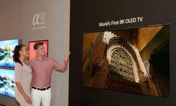 از اولین تلویزیون الجی ۸K OLED دنیا در نمایشگاه IFA 2018  رونمایی شد