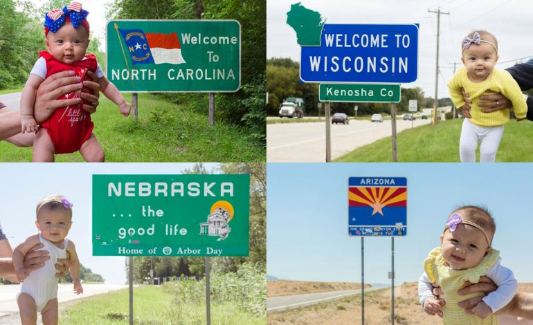 سفر به دور امریکا در ۵ ماهگی!