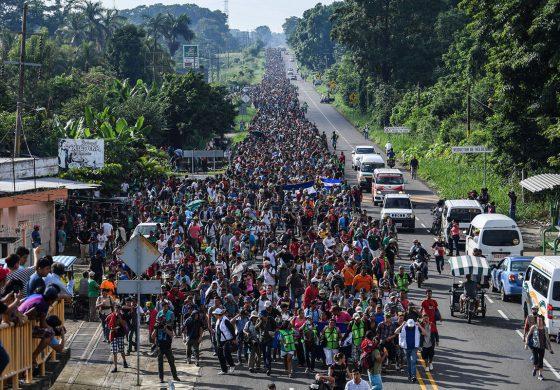 گزارش تصویری از مصائب کاروان مهاجران امریکای مرکزی