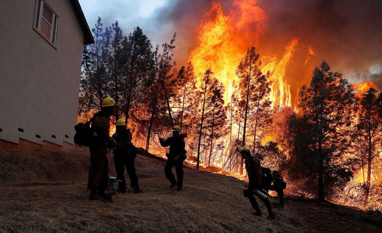 A-Wind-Whipped-Wildfire-Ravages-Paradise,-California-(12)