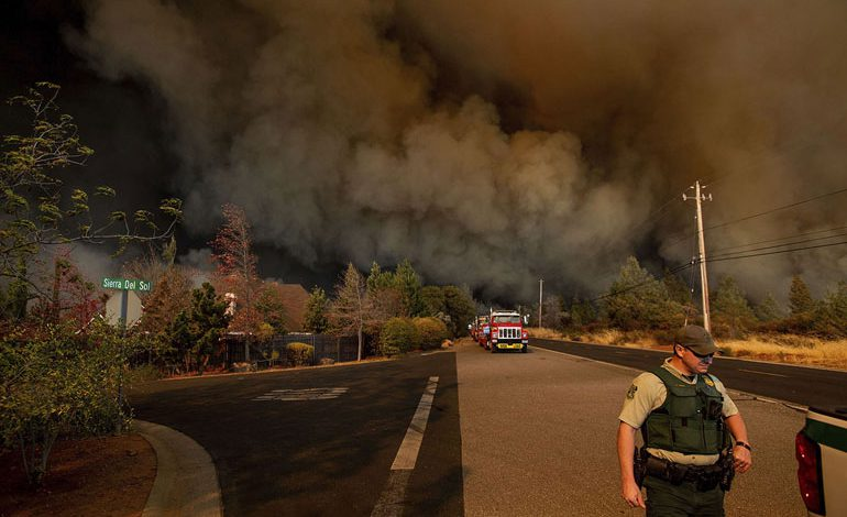 A-Wind-Whipped-Wildfire-Ravages-Paradise,-California-(2)