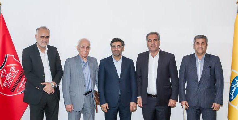 نشست مشترک مدیران پرسپولیس و ایرانسل برگزار شد