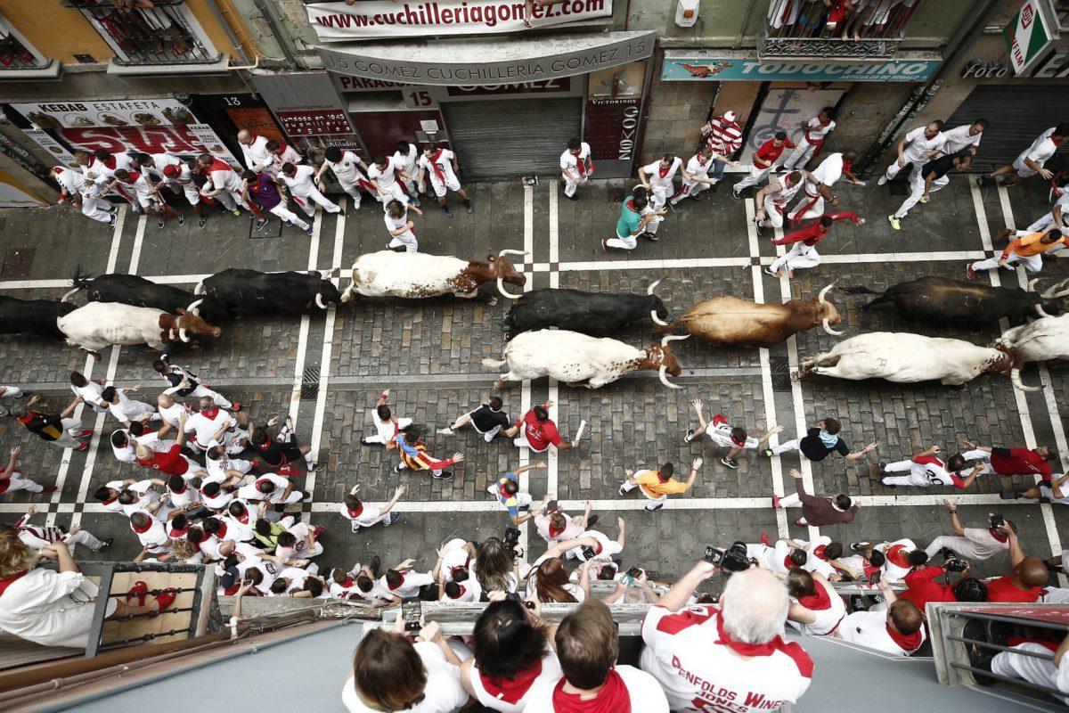 جشنواره گاوبازی «سن فِرمین» در اسپانیا