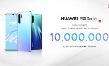 آمار خیرهکننده هوآوی در فروش گوشیهای سری P30