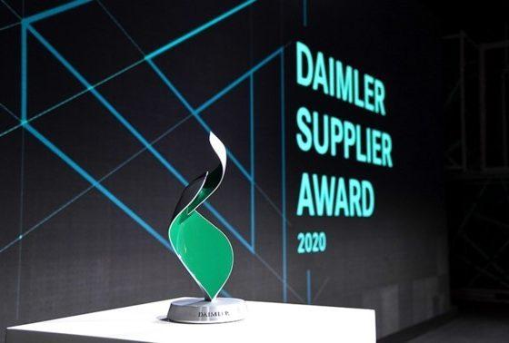 تقدیر از الجی در مراسم معرفی بهترین تأمینکنندگان دایملر سال 2020