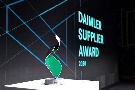 تقدیر از الجی در مراسم معرفی بهترین تأمینکنندگان دایملر سال ۲۰۲۰