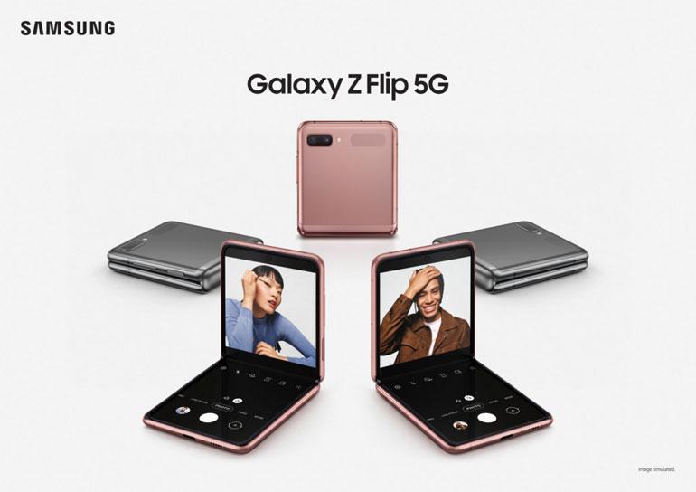 سامسونگ نسخه ۵G گلکسی Z Flip خود را معرفی کرد