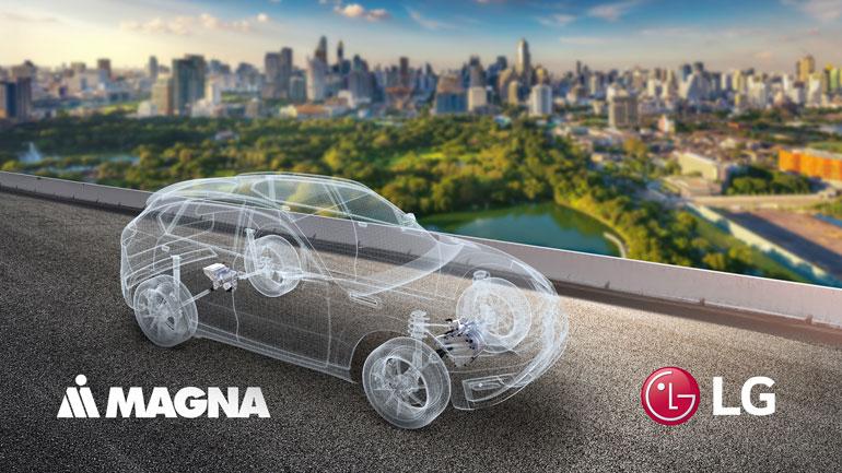 قرارداد سرمایهگذاری مشترک میان الجی و MAGNA برای توسعه بازار پیشرانه الکتریکی