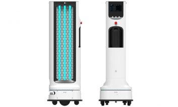 ربات خودکار الجی برای ضدعفونی با نور ماوراءبنفش
