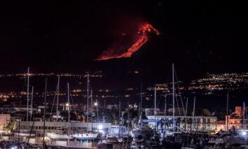 فورانهای اخیر در کوه اتنای ایتالیا