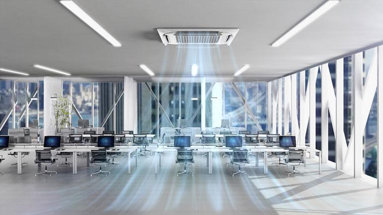 ایجاد محیطهای داخلی سالمتر و ایمنتر با سیستم کاست (Cassette) سقفی کنترل هوای الجی