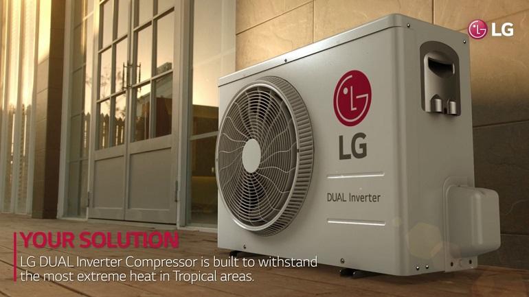 مصرف انرژی کمتر و سرعت خنککنندگی بیشتر با تکنولوژی Dual Inverter ال جی