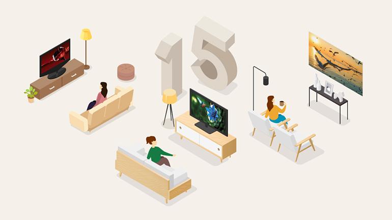 مروری بر ۱۵ سال پیشگامی در بازار جهانی تلویزیون