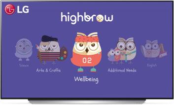ارائه محتوای آموزشی تلویزیونی حرفهای و کارآمد برای دانشآموزان، توسط الجی و پلتفرم Highbrow