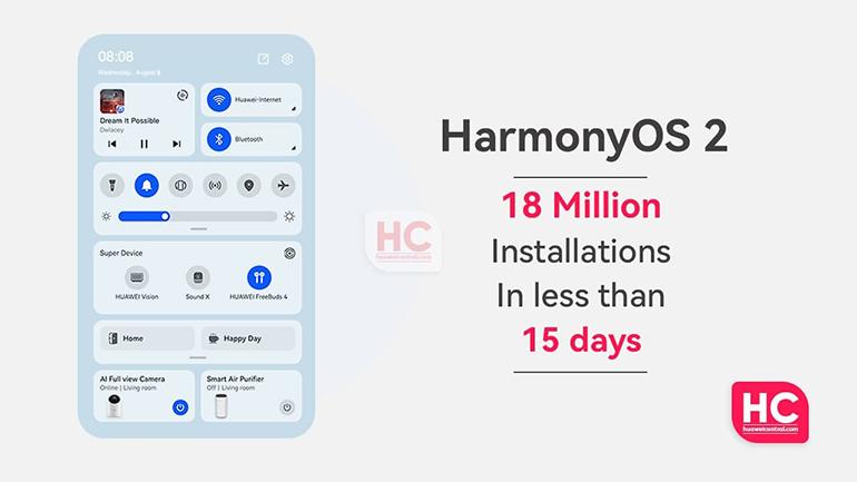 نصب سیستم عامل هارمونی روی ۱۸ میلیون دستگاه در کمتر از ۱۵ روز