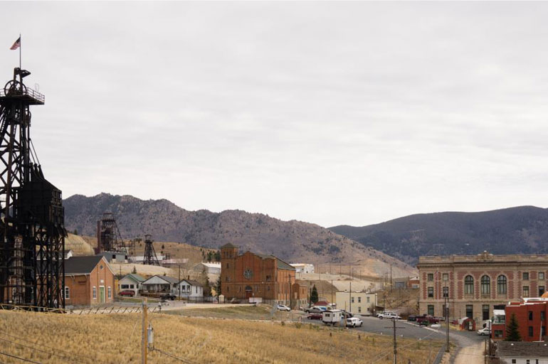 Butte underground city, Montana