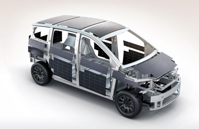 بدنه سایون با سلولهای خورشیدی پوشانده شده است