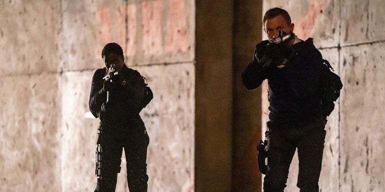 Daniel Craig and Lashana Lynch in No Time to Die