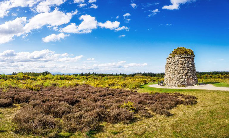 Memorial Cairn at the Battle of Culloden site